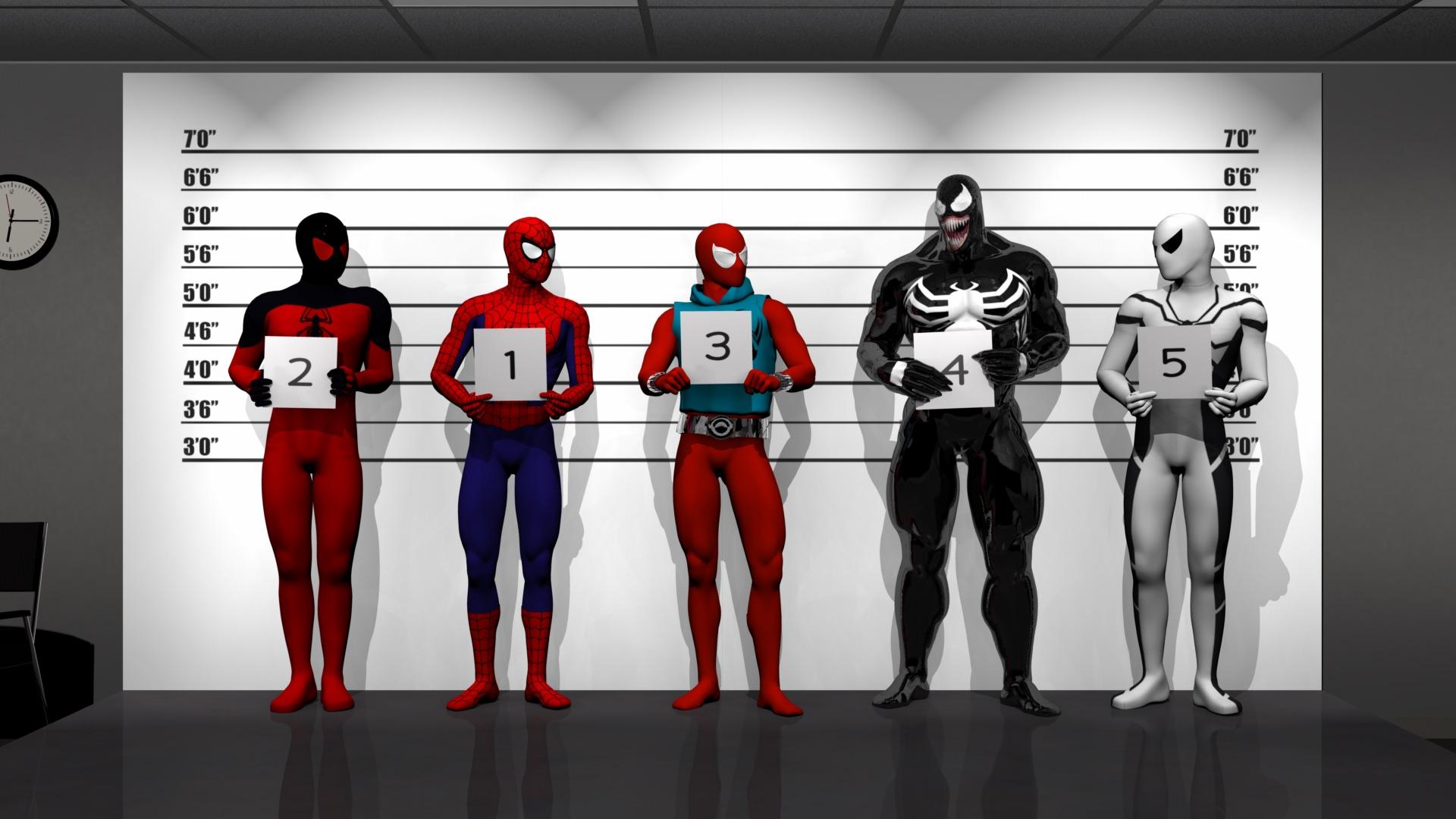 Spider Police Line Up