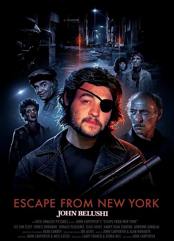 "DDNN John Belushi in ""Escape From New York"""
