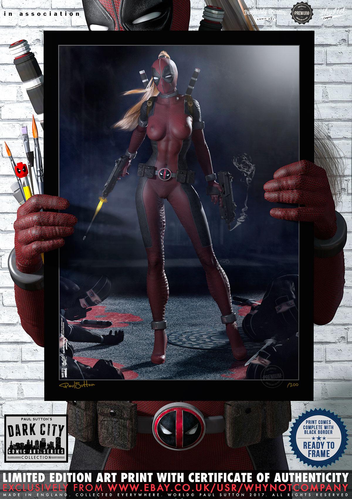 Lady Deadpool ...Ninja Attack! 'Dark City' Series
