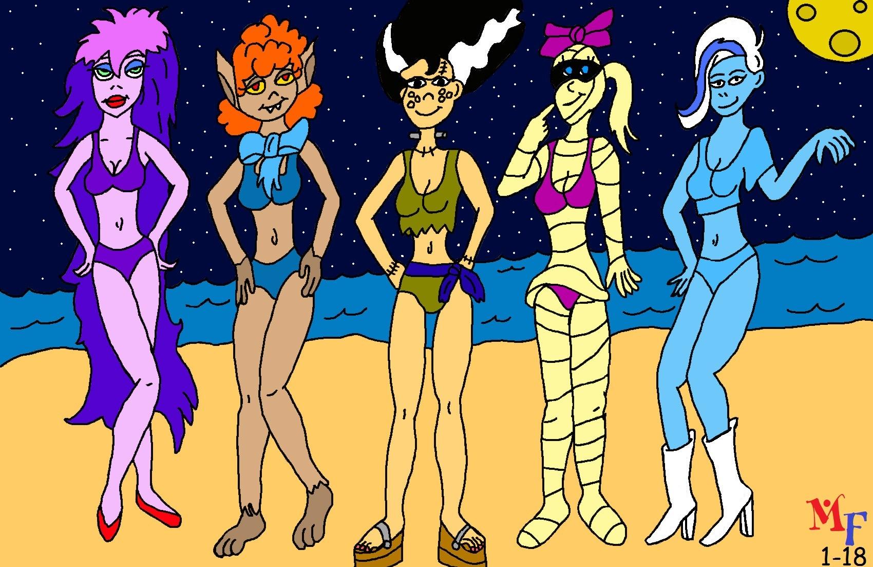 Ghoul School Girls