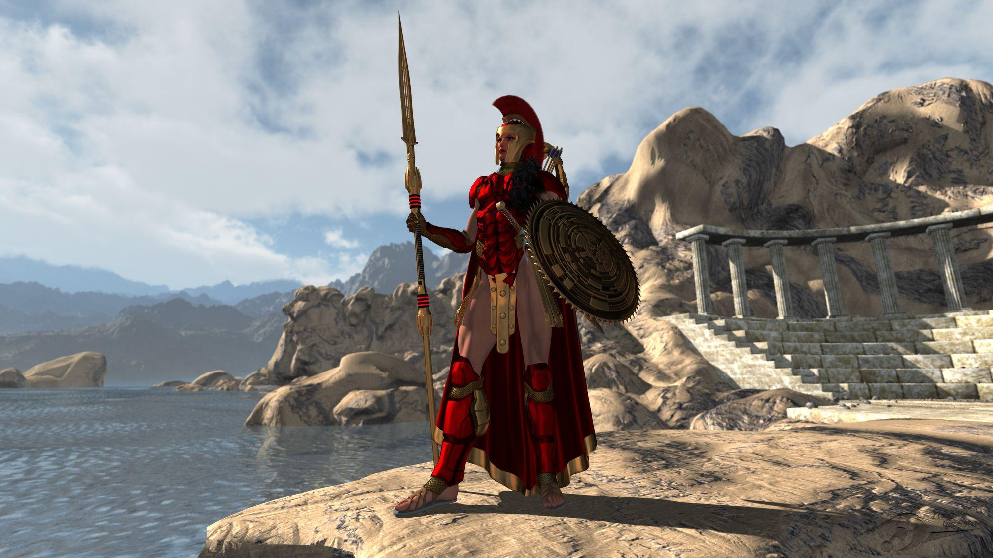 Athena Goddess of wisdom and Battle.