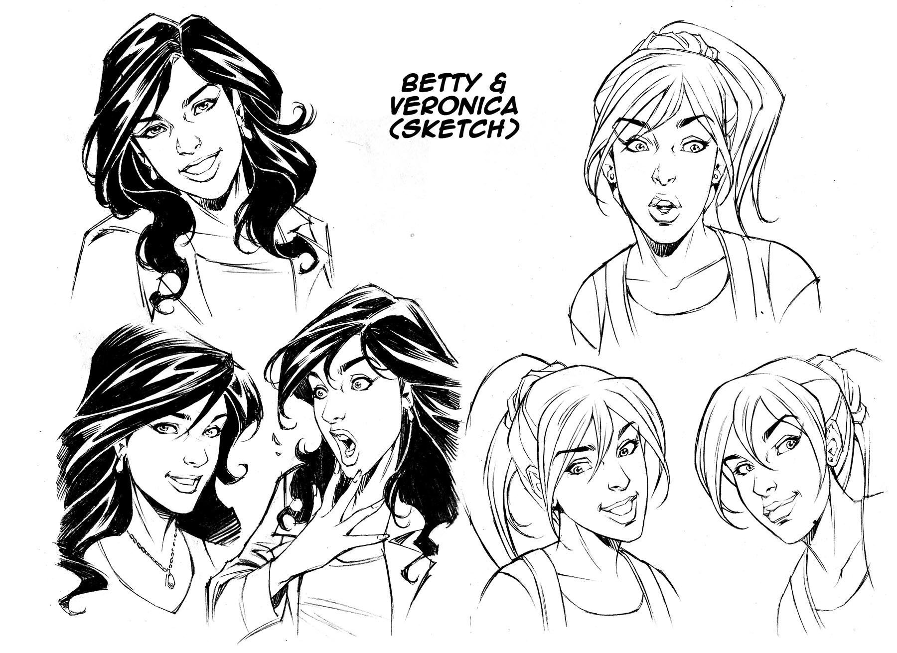 BETTY & VERONICA Face Studies by Jinky Coronado