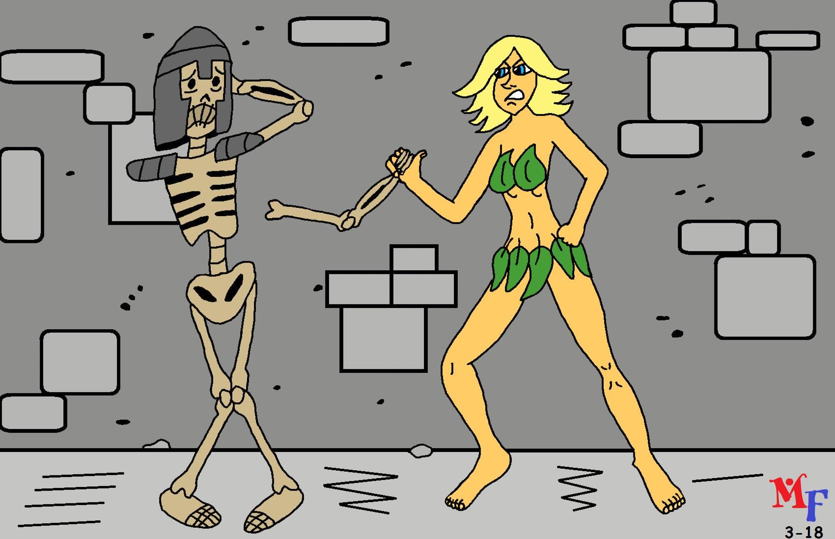Skeleton vs. Princess Christi