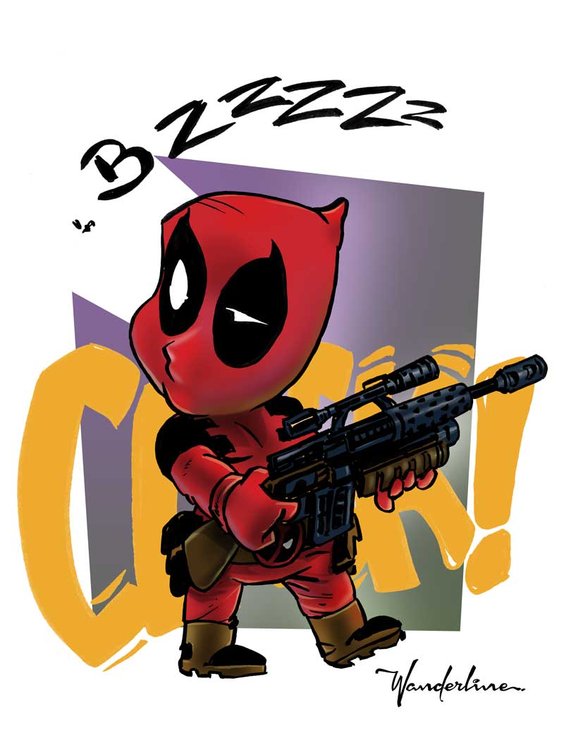 Deadpool Cartoonish style