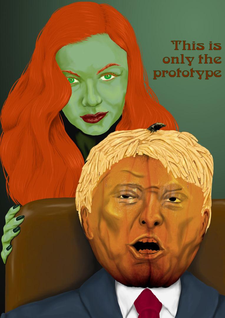 Heromorph-O-Weenish: Poison Ivy & Trumpkin Head
