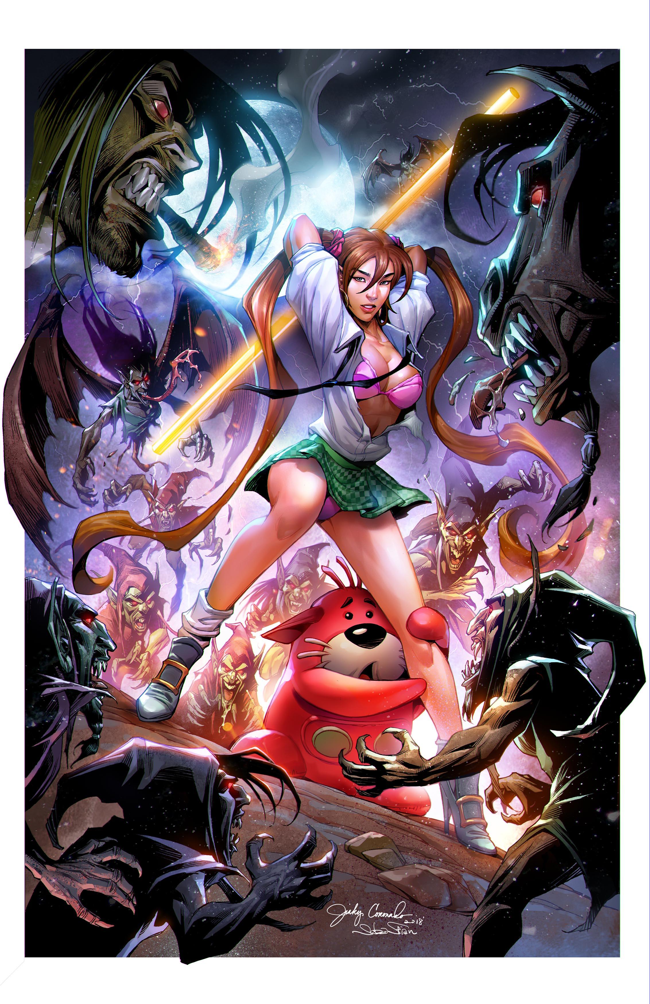 BANZAI GIRL: NIGHT OF THE MYTHMAKERS (Final) Art by Jinky Coronado