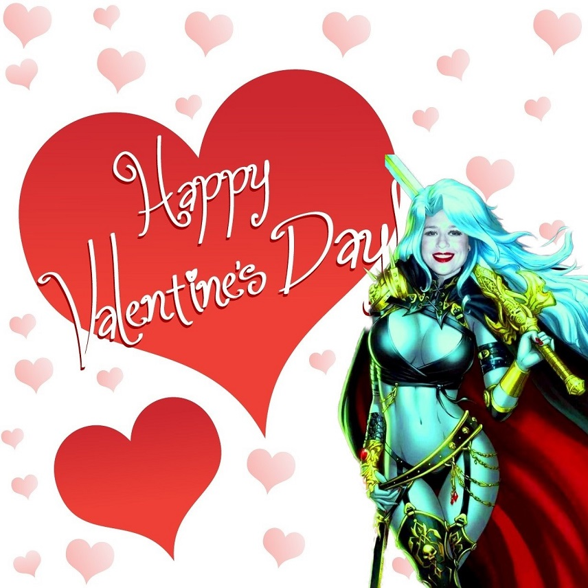 BAD Valentine: Lady Death Card