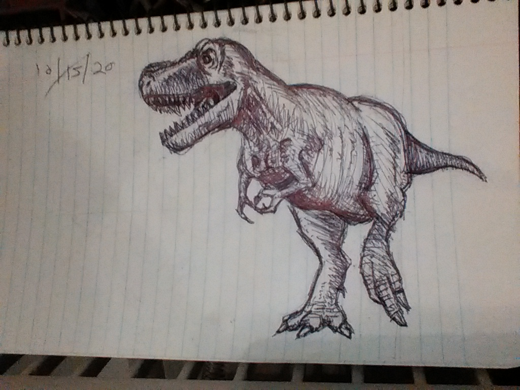 Inktober #3: Dino time