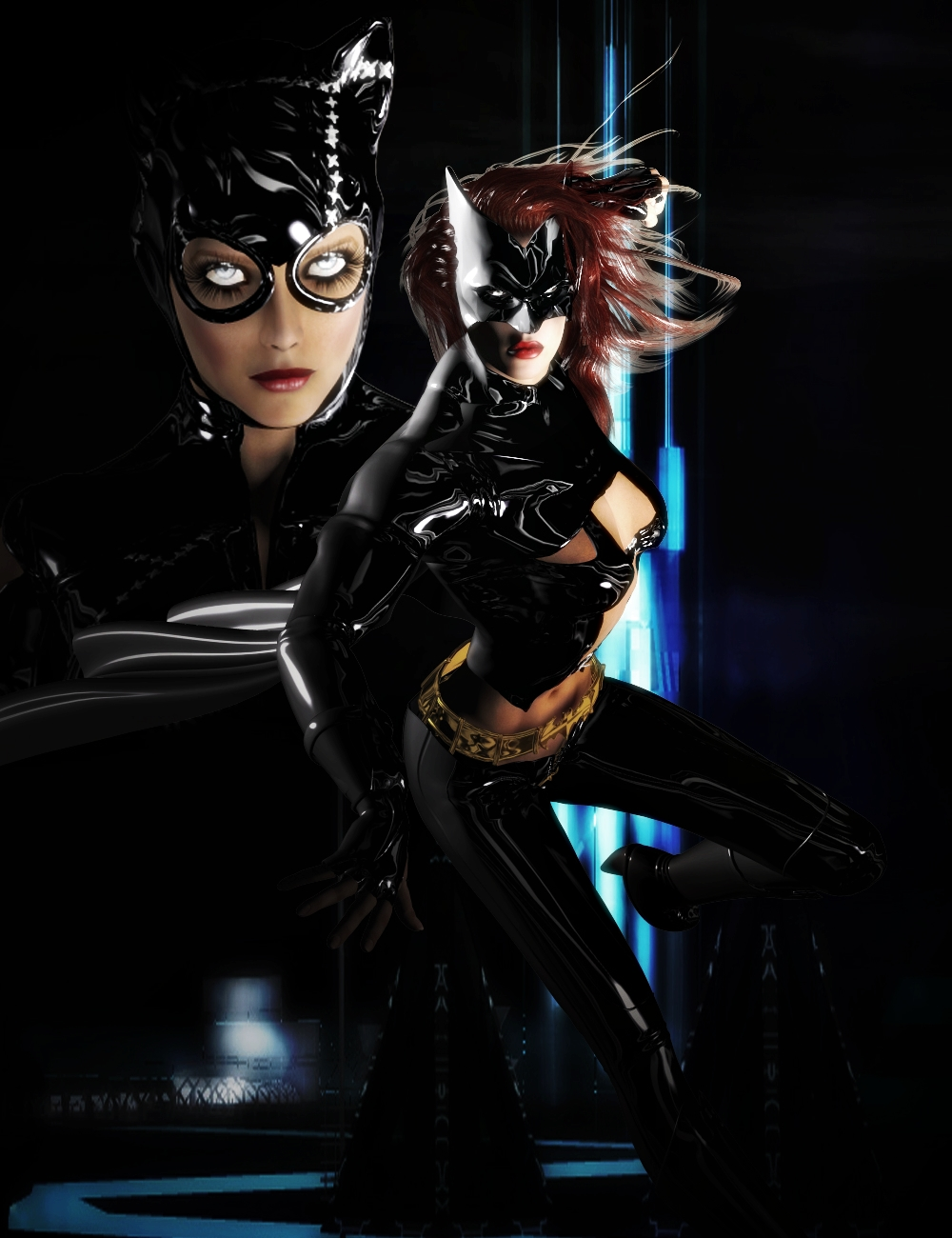 CATWOMAN AND BATWOMAN