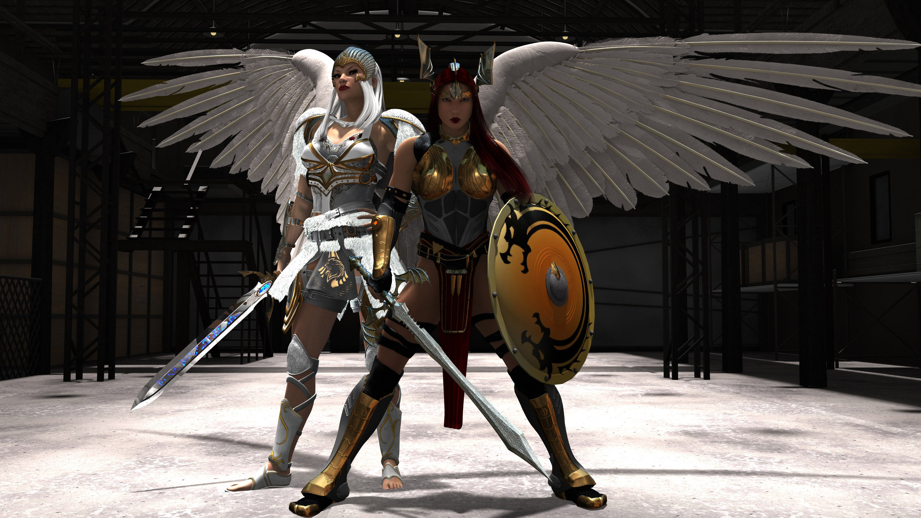 white Valkyrie and Ragnild the Viking Queen.