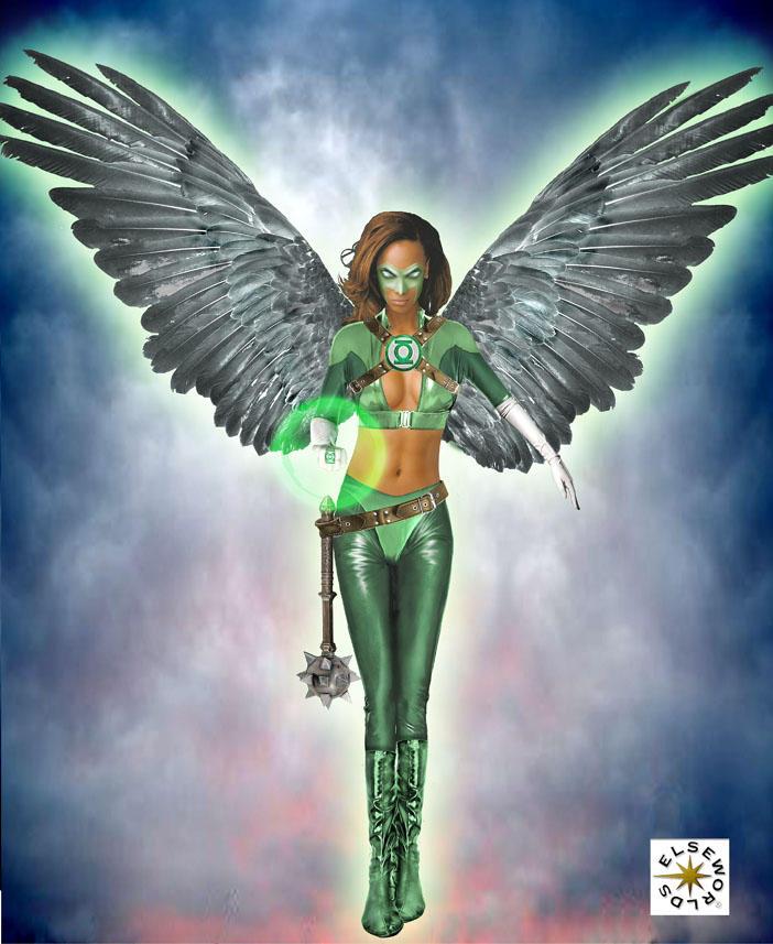 Elseworlds: emerald hawkgirl