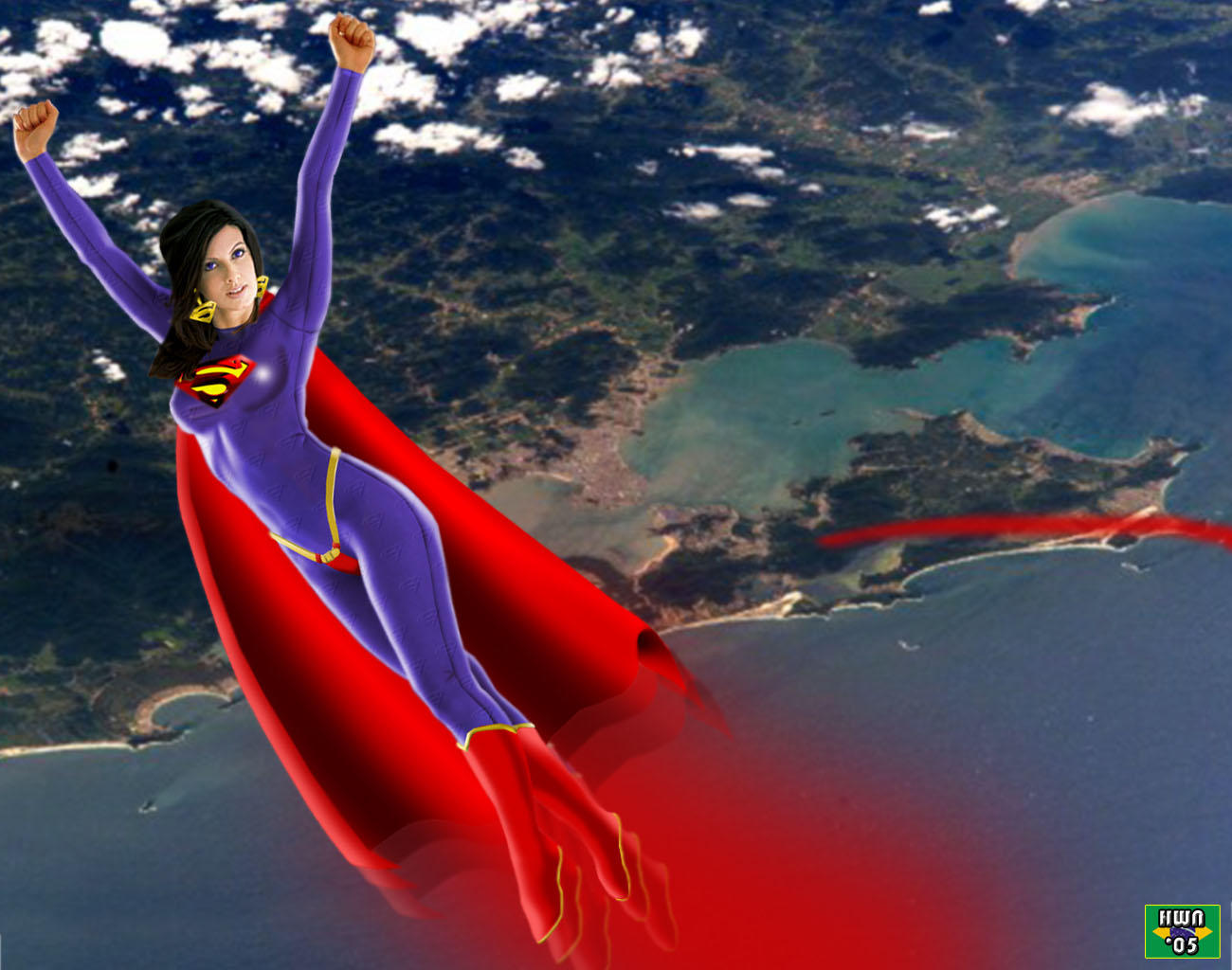 SUPERWOMAN FLYING