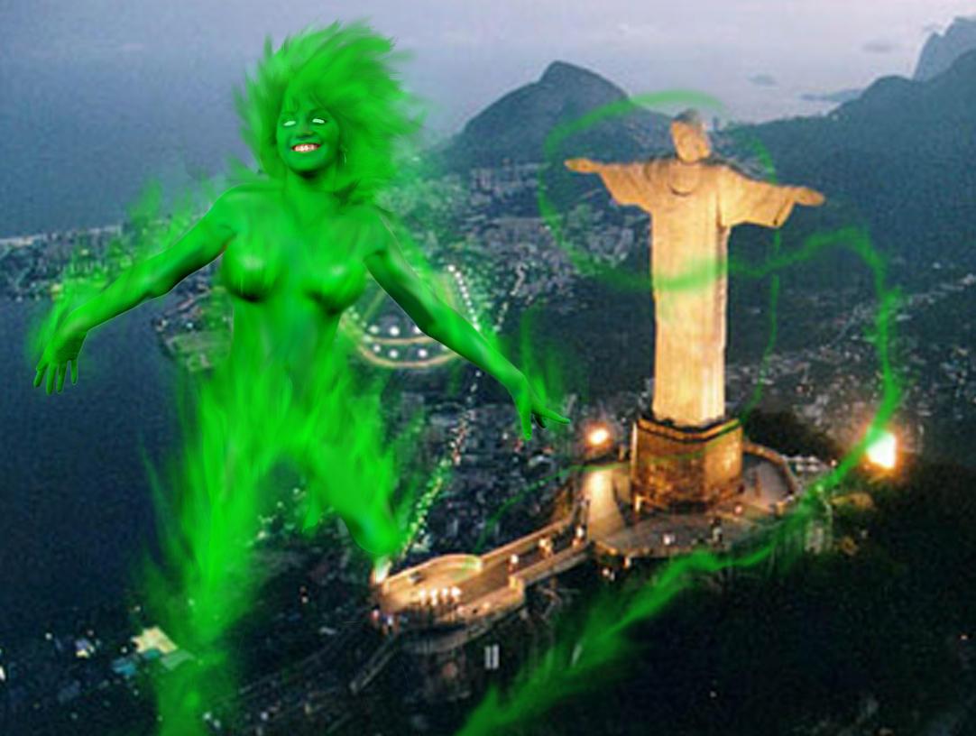 Fire in a  flight over Rio