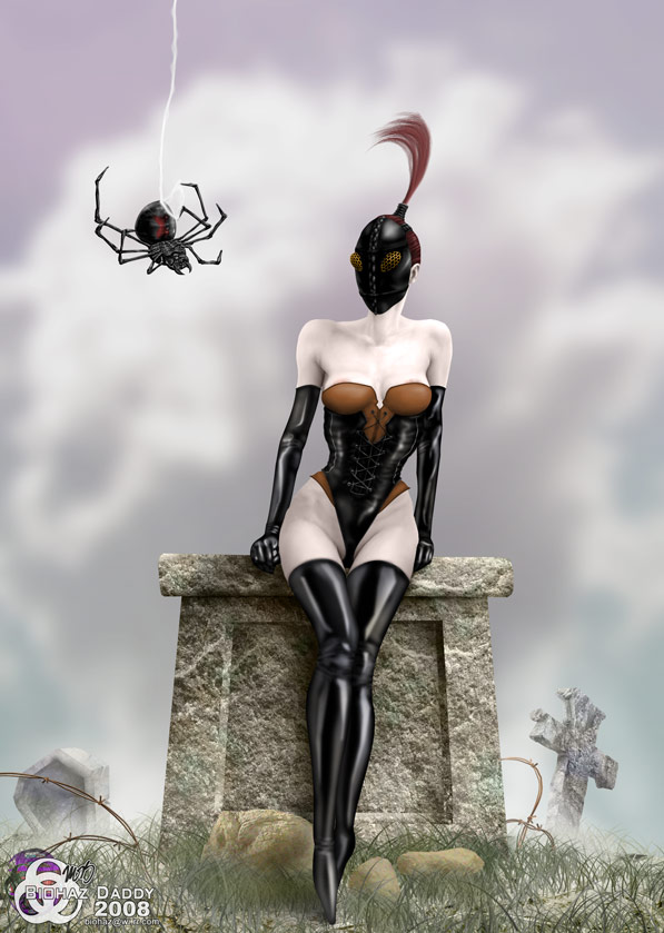 Inspired by Brom: Little Miss Muffet