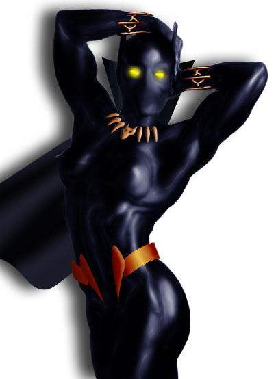 Female Black Panther by QuantumFX