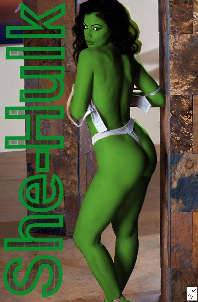 "Aria Giovanni as ""She-Hulk"""