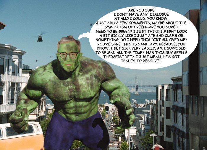 Bad Casting Contest: Woody Allen as The Hulk
