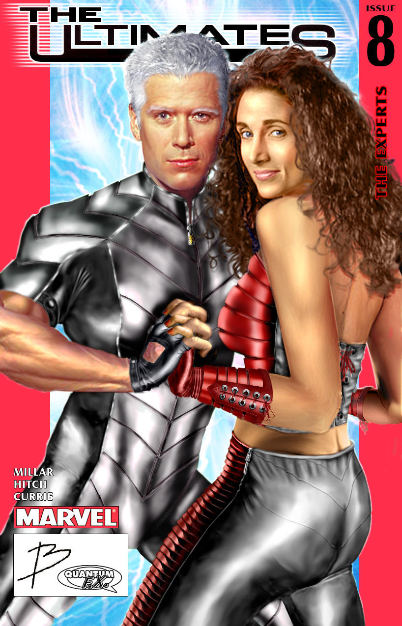 Ultimate Quicksilver and Scarlet Witch by B and QuantumFX