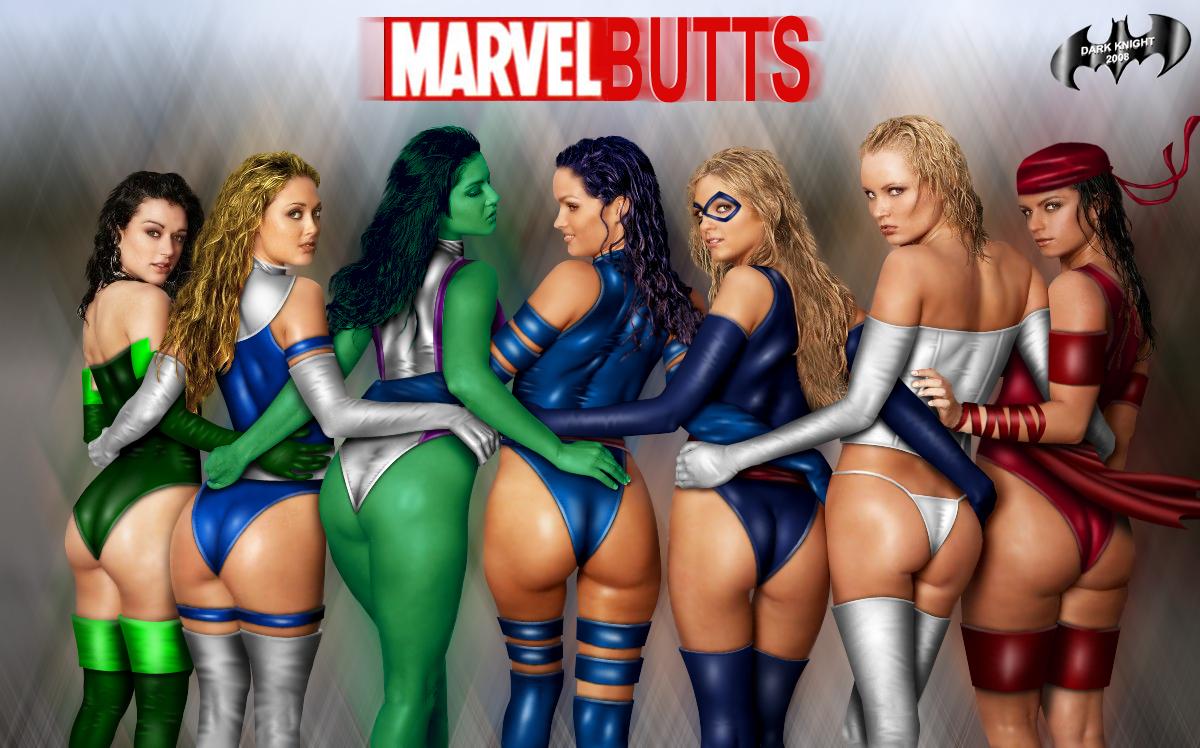 Marvel Butts by Dark Knight DK