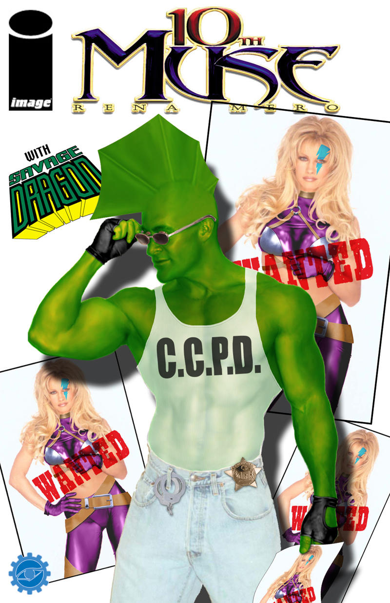 Savage Dragon/10th Muse by Optical Intruder