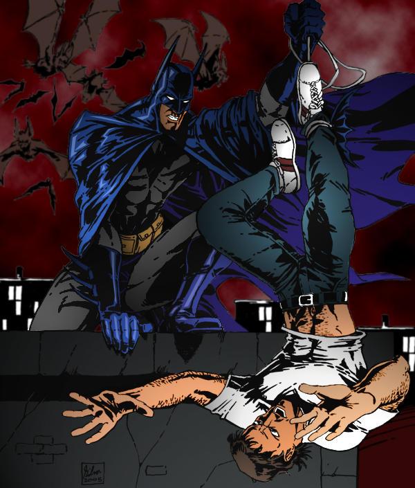 Batman Terrorizing a Thug