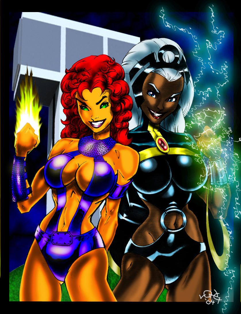 starfire and storm colored...