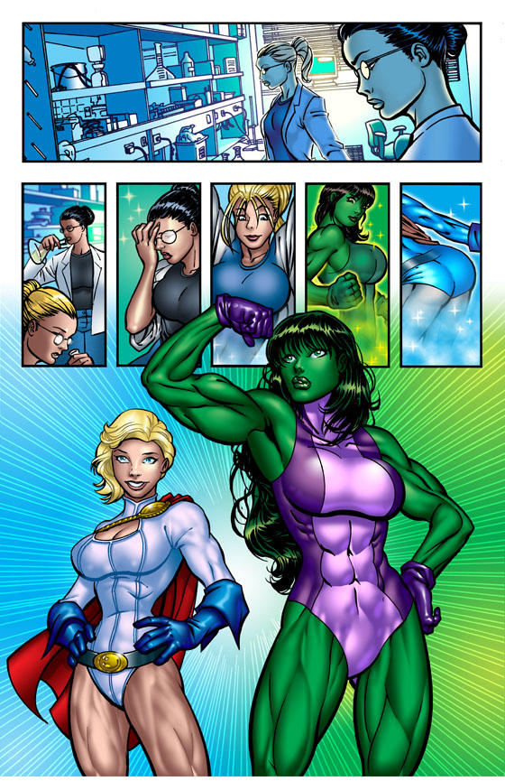 hulk power girl She