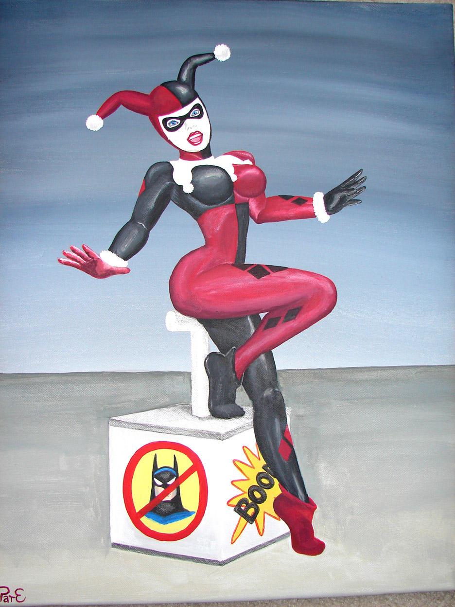 Harley on canvas