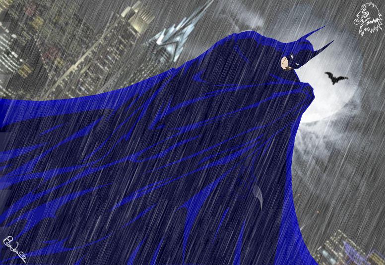 A Rainy Knight in Gotham