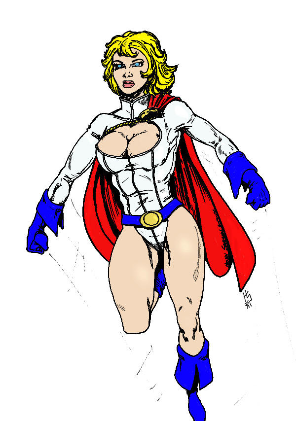 Powergirl by tazman colored by bhm1954