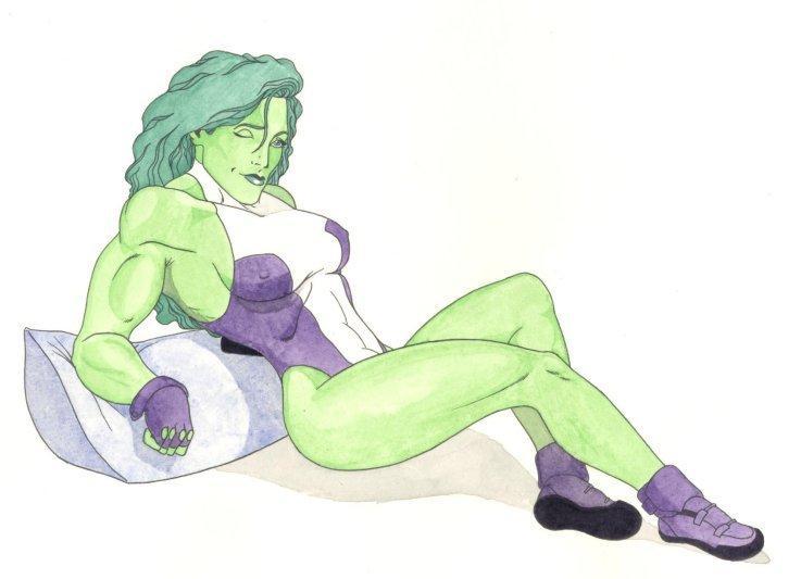 She-Hulk reclining