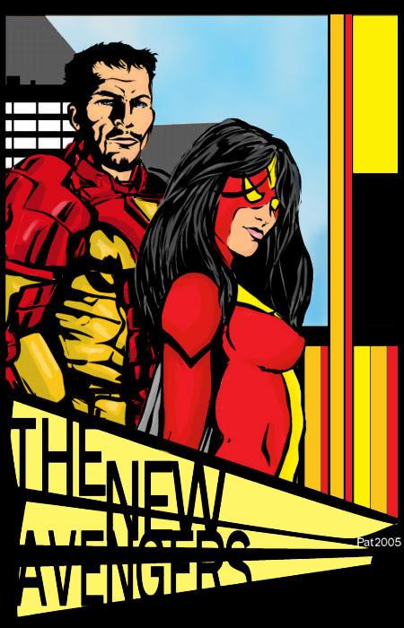 New Avengers - Artist Pat2004 Colors by Webgeek