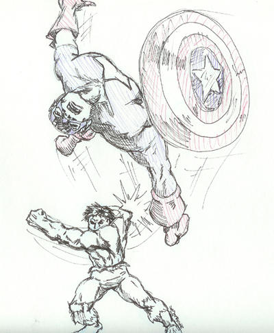 Draw off- Pens only  Hulk vs Capt. A