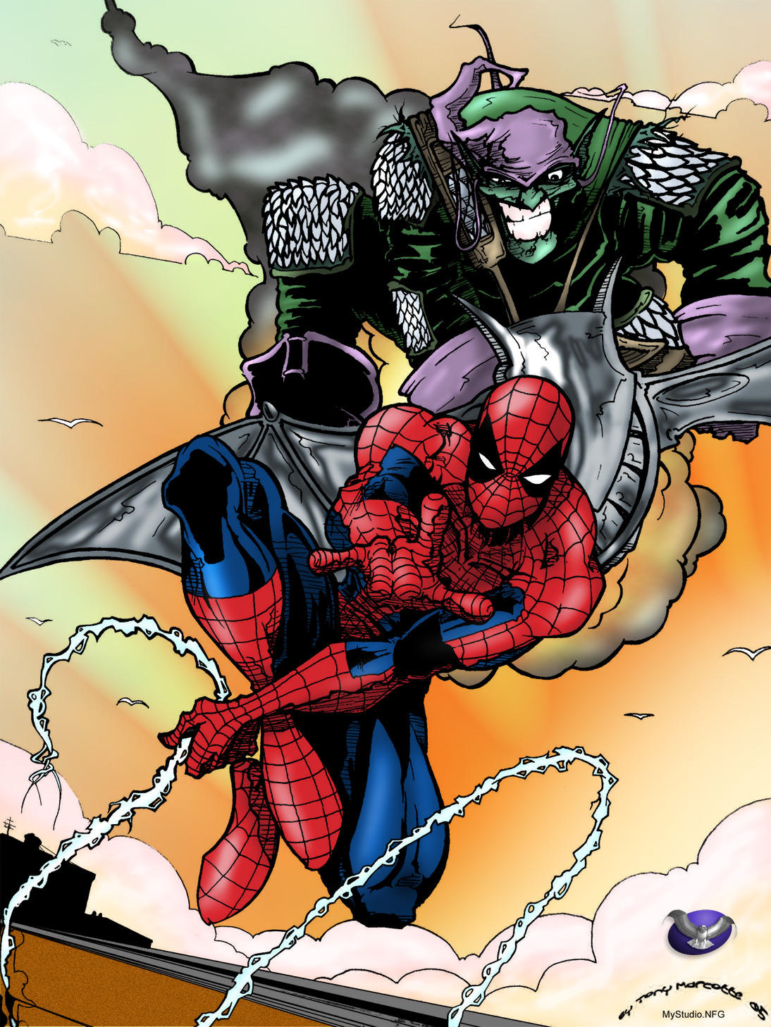 Spidy & Gobby by ubald Colored by Winterhawk