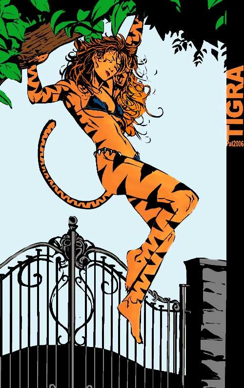 Tigra by PAT2004 colored by bhm1954