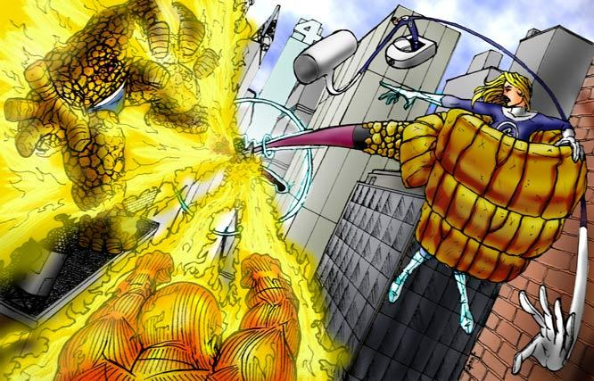 Challenge of the Artists:The Super Skrull vs the Fantastic Four