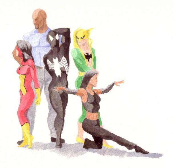 Avengers posing