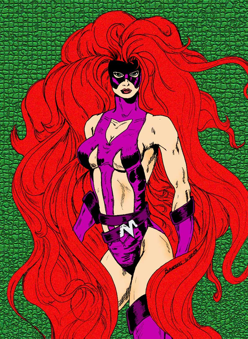 Medusa by Tazman colored by bhm1954