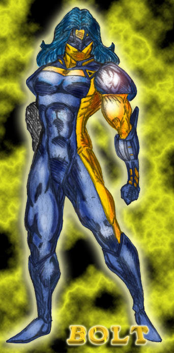 Bolt in Color Part II- Pinup - Artist Thayne_Luc :: Colors by Webgeek