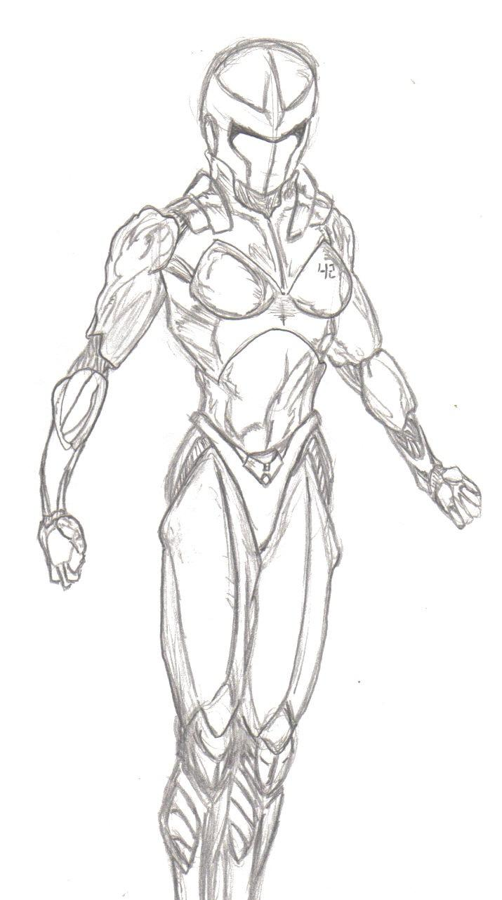 Female Android Draw off