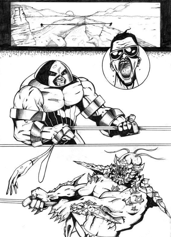Draw-Off #10... Plastic Man's Very Bad Day
