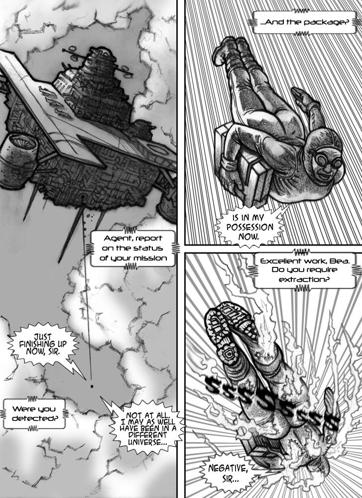 Fire enters the Smackdown page 1 - Art by Android, dialog/lettering by me