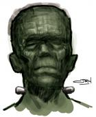 Frankenstein's Monster digital painting