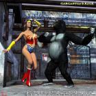 Wonder Woman versus Gargantua by Scarlet