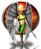 Hawkgirl Pin-up