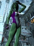 She Hulk Bigger Then Life