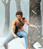 Young Wolverine in the Snow -