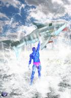Superhero Smackdown 2 round 2: Blurry Vs the Cybershark