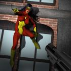 Spiderwoman in trouble
