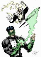 Old Green Lantern drawing.